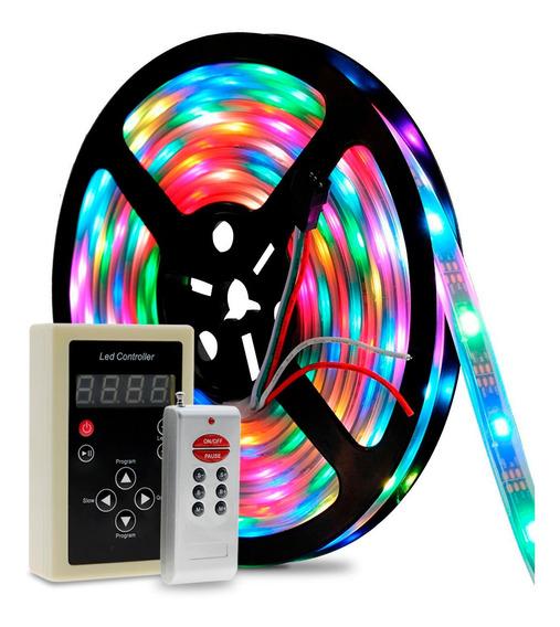 Fita De Led 6803 Rgb 5 Metros Controle Digital Prova D