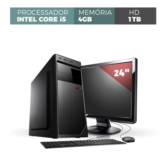 Computador Corporate I5 4gb 1tb Monitor 24