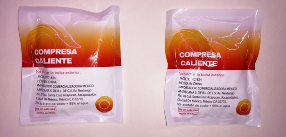 Compresa Caliente Instantanea Instant Hot Pack