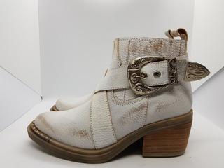 Zapato Mujer Bota Texana Blanca Bulwark