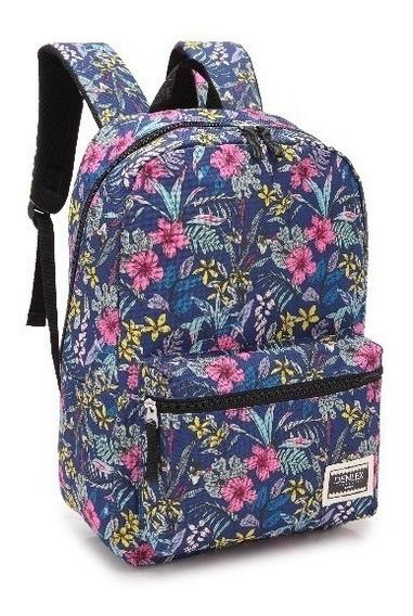 Bolsa Mochila Passeio Feminina Color/floral Denlex328 Barato