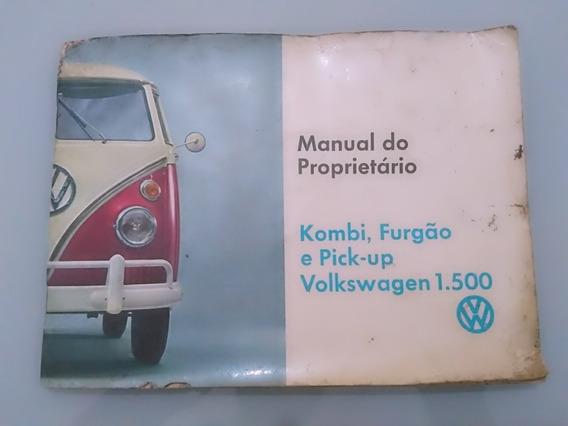 Manual Do Proprietário Vw Kombi Corujinha 1500 Original