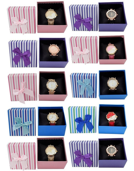 Kit 10 Relógio Feminino Original Dourado Prata Revenda