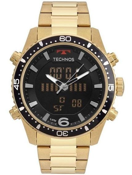 Relógio Technos Masculino Anadigi Ts Dourado Bjk203aad/4p