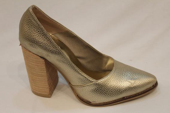 Zapato Stiletto Cuero Mujer Art F3511. Marca Apaguapa