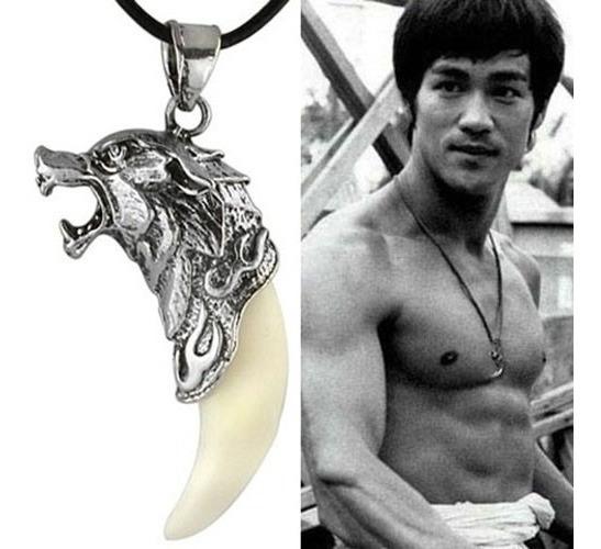 Colar Cordão Bruce Lee Dente De Lobo ( Frete 16 Reais )