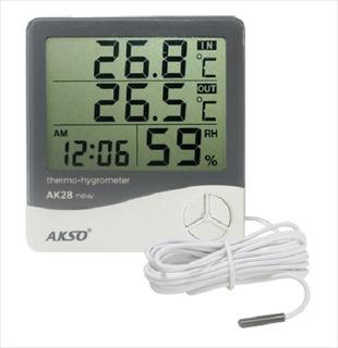 Termo Higrometro Sensor Externo E Relógio+ Envio Rápido Full