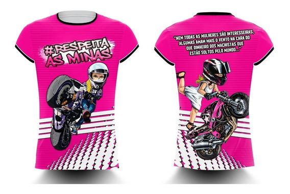 Camisa/camiseta Feminina Motos Respeita As Minas