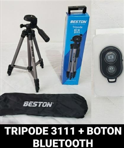 Trípode 3111 + Botón Bluetooth Con Soporte Para El Celular