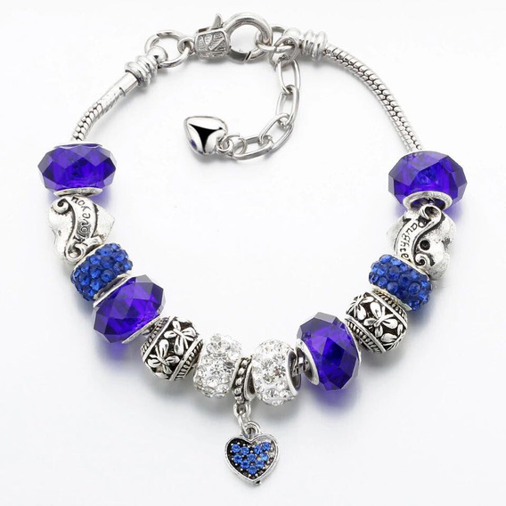 Pulseira Inspired Pandora Bracelete Completo Berloques Charm