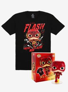 Funko Pop The Flash 713 Y Remera - Boxlunch Exclusive
