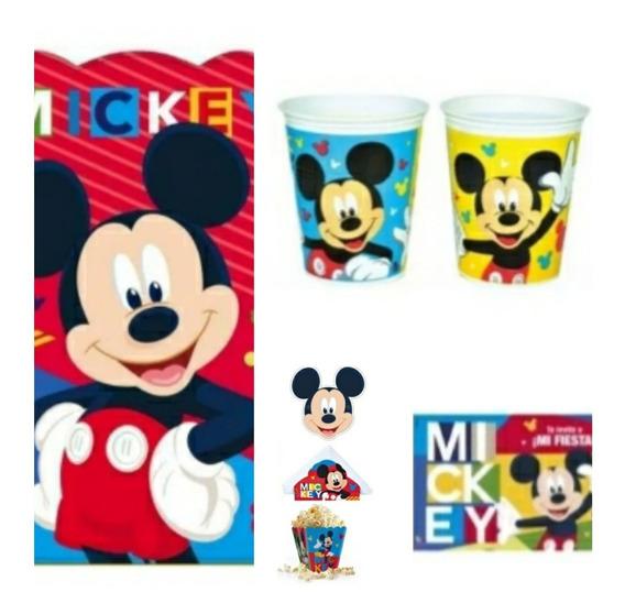 Combo Mickey Mouse Cumpleaños Cumple En Casa Infantil
