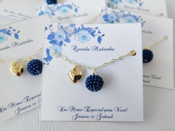 11 Pulseiras Azul Para Madrinha De Casamento