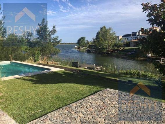 Casa 5 Amb Sobre Lago Central!! Los Castores!! Pileta, Hermoso Jardín, Muelle!!