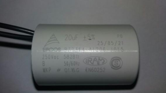 Capacitor Permanente 20uf 250v