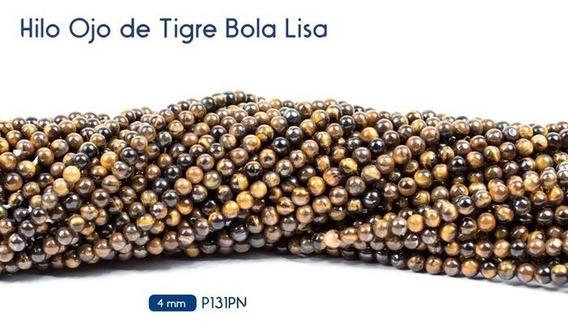 Ojo De Tigre Tira 4mm Piedra Natural Bisuteria 1 Tira