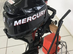 Motor Mercury 8 Hp - 4 Tempos Manual Novo Poddium Náutica