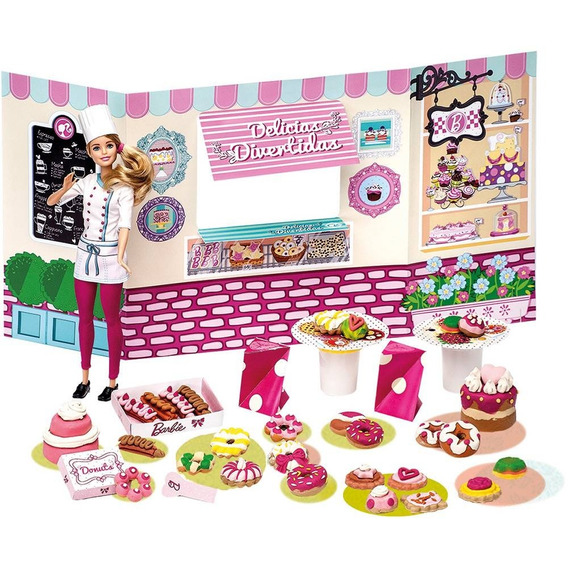 Barbie Massinha Food Truck Doceria E Delicias Divertidas
