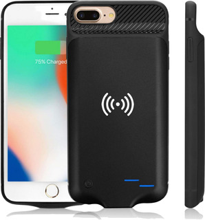 Funda Cargadora Power Bank Wireless iPhone 6 6s 7 8 6 Plus 7p 8p X Xs Carga Inalambrica Envio Gratis