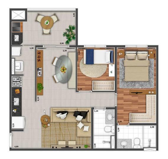 Aparatamento 67mts² Na Planta Com Suite E Garagem Condominio
