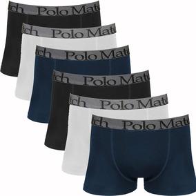 Kit Com 6 Cuecas Boxer De Cotton - Polo Match
