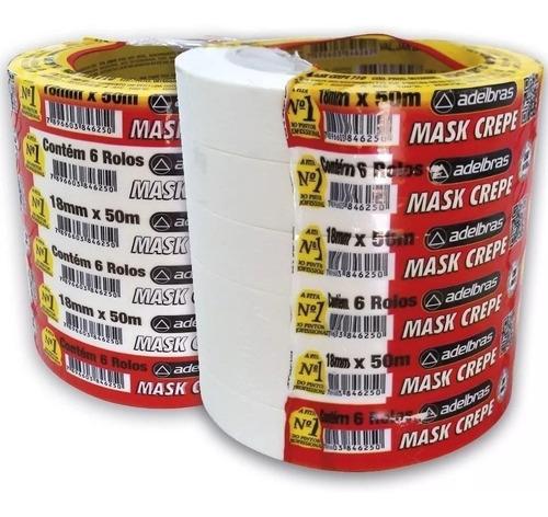 Fita Crepe Premium Adelbras 710 18x50 C/ 30 Rolos Original