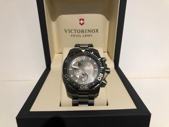 Relógio Victorinox Swiss Army Dive 500 Chronograph 241424 Aç