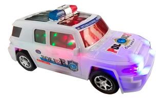 Carro Loco Policía Luces Sonido Coche Camioneta 4 X 4 Auto