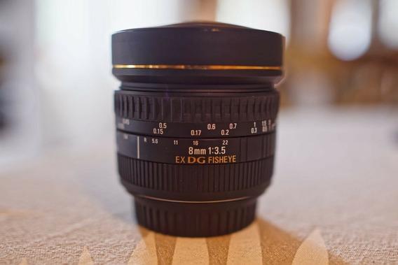 Lente Sigma 8mm 3.5 Ex Dg Fisheye For Canon (baixei O Preço)