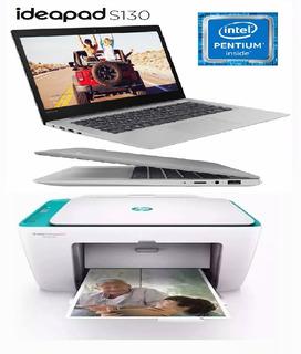 Combo Notebook Lenovo S130 N4000 32gb 2gb + Mf Hp 2675 Wifi