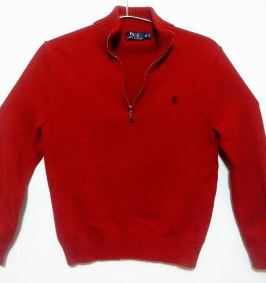 Sueter Ralph Lauren Pullover Quarter Zip Talla M Original