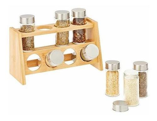 Mdesign Armario De Cocina De Bambu, Despensa, Estante Organ