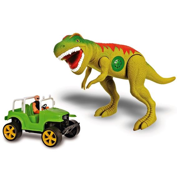 Brinquedo Dinossauro Rex Safari Dinossauro Carro E Boneco