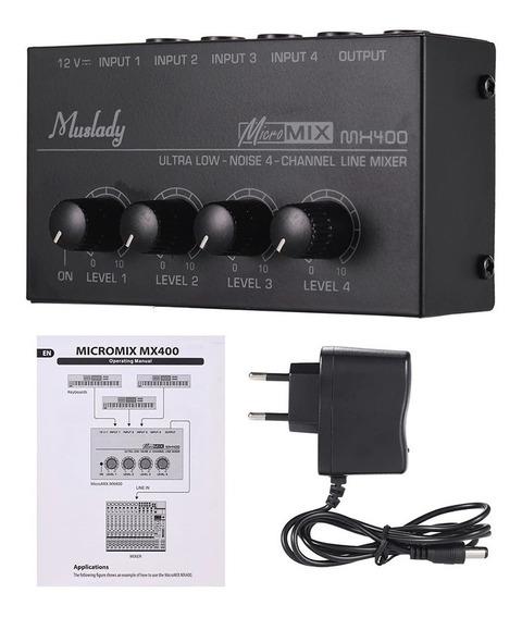 Mixer Compacto Mx400 4 Canais Similar Behringer