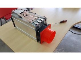 Duto Resfriamento 120mm 4 Polegadas Antminer- S9/l3+/t9/v9