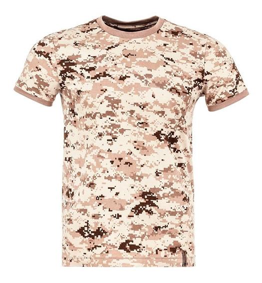 Camiseta Tática Tech Invictus Camuflado Digital Deserto