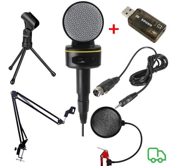 Microfone Sf930 + Braço Articulado + Popfilter+ Tripé+brinde