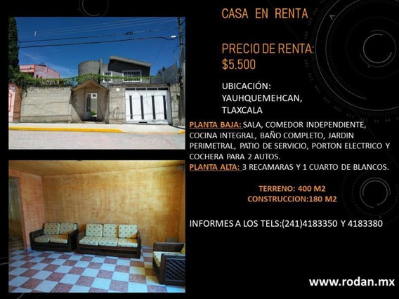 Casa Sola En Renta Santa Ursula Zimatepec