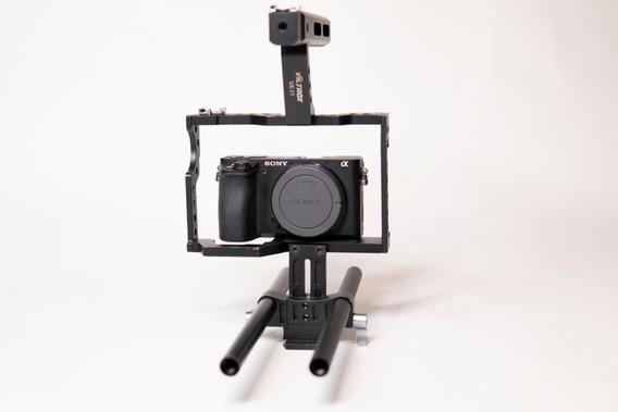 Câmera Sony Mirrorless A6500 (corpo) + Cage + Bateria Extra
