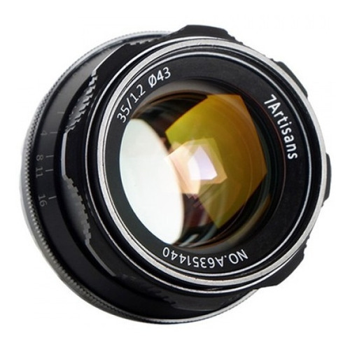 Imagen 1 de 5 de  Lente 7 Artisans 35mm F/1.2 Canon Montura Eos-m