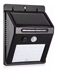 Luminária Solar Parede 24 Leds Sensor Movimento Fotovoltaica
