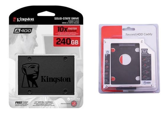 Kit Ssd Kingston 240gb A400 + Caddy Macbook Pro/air Nf-e
