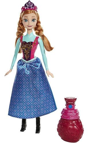 Imagen 1 de 5 de Disney Frozen Royal Cambio De Color Anna Muñeca