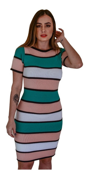 Vestido Curto De Festa Colado Moda Blogueira Esporte Fino Tricot Trico Promoção A Pronta Entrega