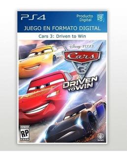 Cars 3: Driven To Win Ps4 / 1° / Entrega En El Día