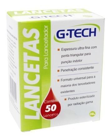 Lanceta Para Lancetador G-tech 30g Com 50 Unidades Lan3050g