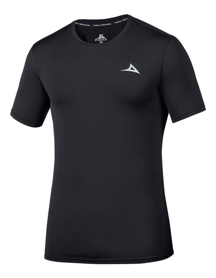 Playera Negro Pirma Training Cuello Redondo 55401