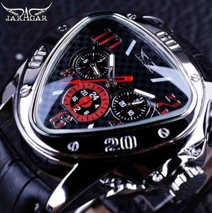 Reloj De Lujo Diseño Geométrico Triangular Para Hombre
