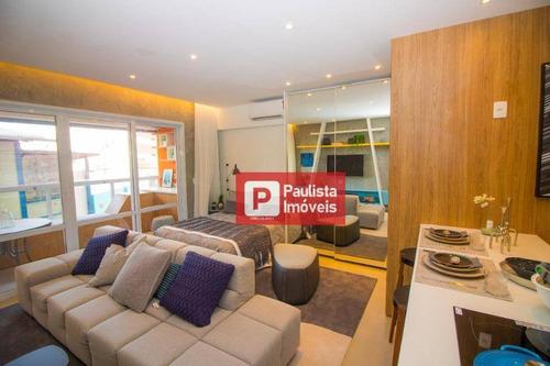 Apartamento Com 1 Dormitório À Venda, 42 M²  - Campo Belo - São Paulo/sp - Ap26533