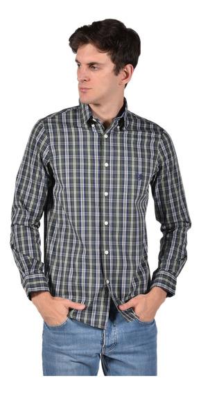 Camisa Stretch Fit Chaps Verde 750722892-34k1 Hombre